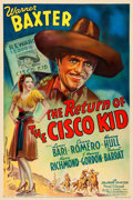 """Movie Posters:Western, The Return of the Cisco Kid (20th Century Fox, 1939). Fine+ on Linen. One Sheet (27"""" X 41"""").. ..."""