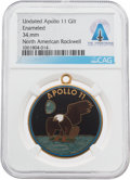 Explorers:Space Exploration, Apollo 11: Rockwell International Mission Insignia Gilt Enameled Pendant Directly From The Armstrong Family Collection™, CAG C...