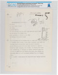 Explorers:Space Exploration, Apollo: Original Copy of an October 1967 Telex Message from North American Rockwell to NASA and Grumman Regarding LM to CSM In...