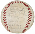 Autographs:Baseballs, 1973 New York Yankees Team Signed Baseball (30 Signatures)....