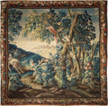 Textiles, A Franco-Flemish Wool Tapestry, early 18th century. 104 x 98 inches (264.2 x 248.9 cm). ...