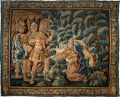 Textiles, A Flemish Historical Tapestry Depicting Sophonisba Beseeching Masinissa, 17th century. 113-1/2 x 133-1/2 inches (288.3 x 339...