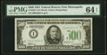 Fr. 2201-I $500 1934 Federal Reserve Note. PMG Choice Uncirculated 64 EPQ