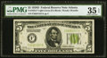 Fr. 1954-F $5 1928D Federal Reserve Note. PMG Choice Very Fine 35 EPQ