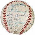Autographs:Baseballs, 1957 American League All-Stars Team Signed Baseball (26 Signatures)....