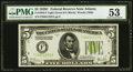 Fr. 1953-F $5 1928C Federal Reserve Note. PMG About Uncirculated 53