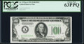 Small Size:Federal Reserve Notes, Fr. 2152-A $100 1934 Federal Reserve Note. PCGS Choice New 63PPQ.. ...