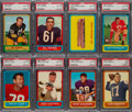 Football Cards:Lots, 1963 Topps Football PSA-Graded Collection (34)....