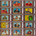Football Cards:Sets, 1966 Topps Football Complete Set (132) Plus Funny Rings Complete Set (24). ...