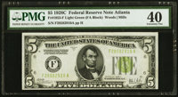 Fr. 1953-F $5 1928C Federal Reserve Note. PMG Extremely Fine 40