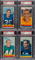 Football Cards:Lots, 1959 Bazooka Football PSA Authentic Quartet (4)....