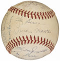 Autographs:Baseballs, 1959 New York Yankees Team Signed Baseball (23 Signatures)....
