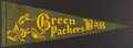 Football Collectibles:Others, c. 1940s Green Bay Packers Pennant....