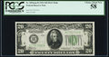 Fr. 2054-H $20 1934 Federal Reserve Note. PCGS Choice About New 58