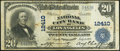 National Bank Notes:California, Los Angeles, CA - $20 1902 Plain Back Fr. 661 The National City Bank Ch. # 12410 Fine-Very Fine.. ...