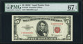 Small Size:Legal Tender Notes, Fr. 1535 $5 1953C Legal Tender Note. PMG Superb Gem Unc 67 EPQ.. ...