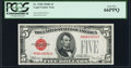 Small Size:Legal Tender Notes, Fr. 1530 $5 1928E Legal Tender Note. PCGS Gem New 66PPQ.. ...