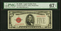 Fr. 1528 $5 1928C Legal Tender Note. PMG Superb Gem Unc 67 EPQ