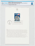 Explorers:Space Exploration, Philatelia: Apollo 11 20th Anniversary Commemorative First Day Cover Directly From The Armstrong Family Collection, CAG Certif...