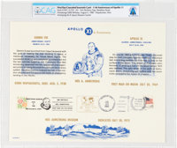 Philatelia: 11th Anniversary of Apollo 11 First Day Canceled Souvenir Card Directly From The Armstrong Family Collection...