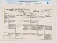 NASA: Control Handle Chart, March 22, 1963, Directly From The Armstrong Family Collection™, CAG Certified