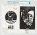 """Explorers:Space Exploration, Philatelia: Apollo 11 """"Houston, Tranquility Base Here. The Eagle Has Landed"""" First Day Canceled Souvenir Card Directly From Th..."""