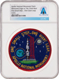 """Explorers:Space Exploration, Patches: Apollo National Monument """"One Small Step...One Giant Leap"""" Patch Directly From The Armstrong Family Collection™, CAG ..."""