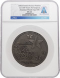 """Explorers:Space Exploration, Medals: Aviation Week""""Top 100 Stars of Aerospace"""" Pewter Medal Dated 2003 MS64 NGC Directly From The Armstrong Fam..."""