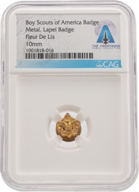 Boy Scouts: BSA Fleur di Lis Lapel Badge Directly From The Armstrong Family Collection™, CAG Certified