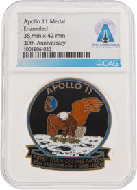 """Apollo 11 """"First Man on the Moon"""" 30th Anniversary Medal Directly From The Armstrong Family Collection™, CAG C..."""