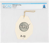 X-15: NASA Logo Tag Directly From The Armstrong Family Collection™, Certified and Encapsulated by Collectibles Authentic...