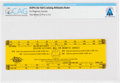 Explorers:Space Exploration, Armstrong Family Personal: AOPA Air Aide Cruising Altitude Ruler Directly From The Armstrong Family Collection™, CAG Certified...