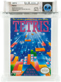 "Video Games:Nintendo, Tetris [Oval SOQ R, ""Red Box Warranty""] - Carolina Collection Wata 9.6 A+ Sealed NES Nintendo 1989 USA...."
