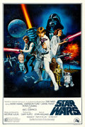 """Movie Posters:Science Fiction, Star Wars (20th Century Fox, 1977). Very Fine on Linen. One Sheet (27.25"""" X 41"""") Style C, Tom Chantrell Artwork.. ..."""