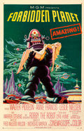 """Movie Posters:Science Fiction, Forbidden Planet (MGM, 1956). Fine+ on Linen. One Sheet (27"""" X 41.5"""").. ..."""