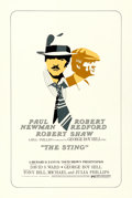 "Movie Posters:Academy Award Winners, The Sting (Universal, 1973). Very Fine- on Linen. Silk Screen One Sheet (27.5"" X 41"") Alternate Style.. ..."