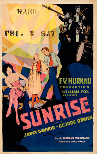 "Sunrise (Fox, 1927). Very Fine-. Window Card (14"" X 22"")"