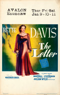 "Movie Posters:Film Noir, The Letter (Warner Bros., 1940). Very Fine-. Window Card (14"" X 22"").. ..."