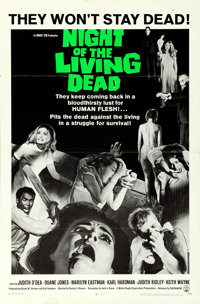 "Night of the Living Dead (Continental, 1968). Folded, Very Fine-. One Sheet (27"" X 41"")"