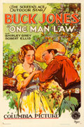 "Movie Posters:Western, One Man Law (Columbia, 1932). Very Fine- on Linen. One Sheet (27.5"" X 41"").. ..."
