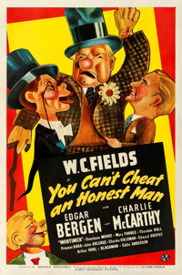 """You Can't Cheat an Honest Man (Universal, 1939). Good on Linen. One Sheet (27"""" X 41"""") Style A, Jacques Kaprali..."""