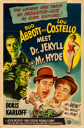 """Movie Posters:Comedy, Abbott and Costello Meet Dr. Jekyll and Mr. Hyde (Universal International, 1953). Folded, Fine/Very Fine. One Sheet (27"""" X 4..."""