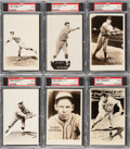 Baseball Cards:Lots, 1933 Worch Cigar PSA EX 5 Collection (6) - With Hall of Famers Plus An original Envelope.... (Total: 6 items)