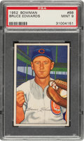 Baseball Cards:Singles (1950-1959), 1952 Bowman Bruce Edwards #88 PSA Mint 9 - None Higher....