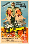 """Movie Posters:Comedy, Abbott and Costello Meet the Mummy (Universal International, 1955). Very Fine- on Linen. One Sheet (27.25"""" X 41"""").. ..."""