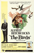 """Movie Posters:Hitchcock, The Birds (Universal, 1963). Very Fine- on Linen. One Sheet (27"""" X 41.5"""").. ..."""