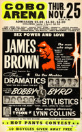 "Movie Posters:Rock and Roll, James Brown: Sex, Power, and Love at the Cobo Arena, Detroit (Polydor Records, 1971). Fine+. Silk Screen Concert Poster (22""..."