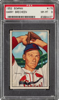 Baseball Cards:Singles (1950-1959), 1952 Bowman Harry Brecheen #176 PSA NM-MT 8....