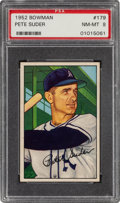 Baseball Cards:Singles (1950-1959), 1952 Bowman Pete Suder #179 PSA NM-MT 8....