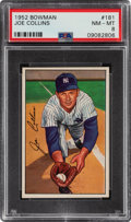Baseball Cards:Singles (1950-1959), 1952 Bowman Joe Collins #181 PSA NM-MT 8....